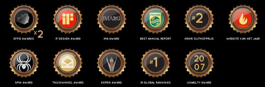 Awards en Merken. Specialist in Strategie, Concept & Communicatie