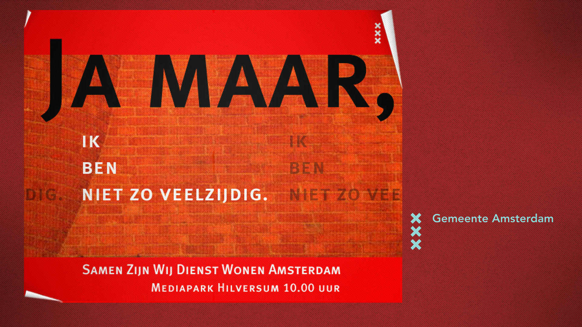 Amsterdam City. Case. Visuals art direction, design, email campagne. Sham Ramessar