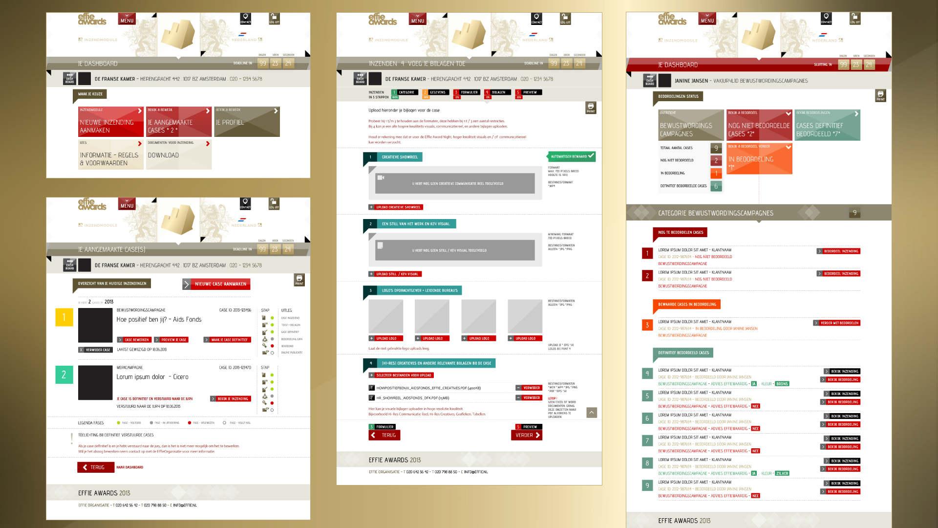Effie Awards. Case. Visuals van rebranding, strategie, communicatie, identity, concept, social media, designs, event. Sham Ramessar