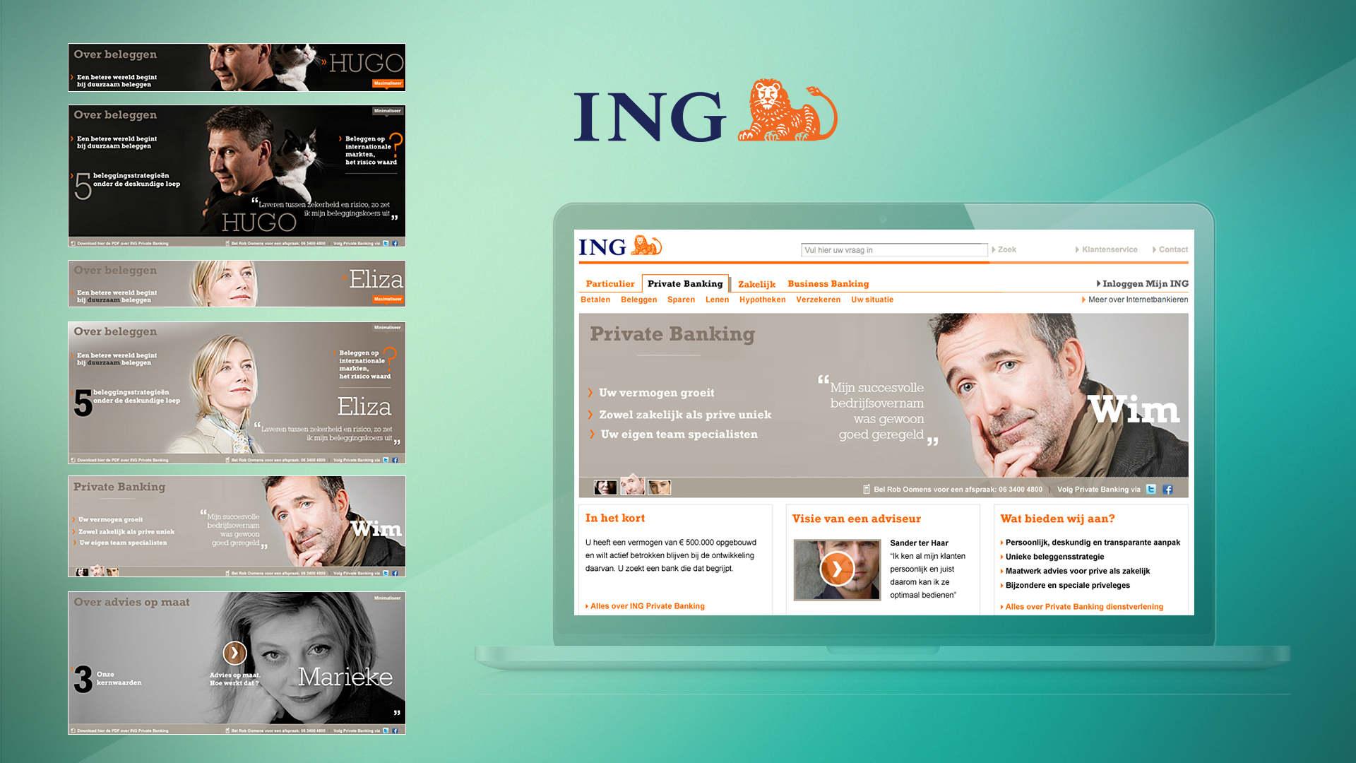 ING. Case. Visuals pitch, concept, art direction, creative consultancy, workshop concept, design. Sham Ramessar