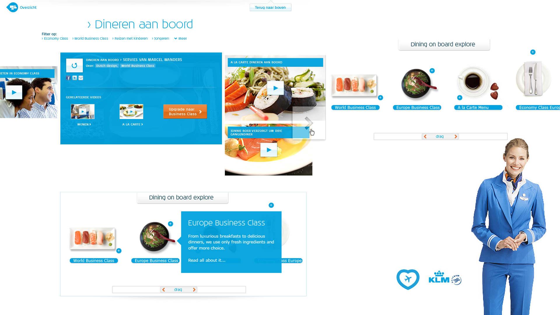 KLM Royal Dutch Airlines - Online Marketing Design Art Direction - Sham Ramessar