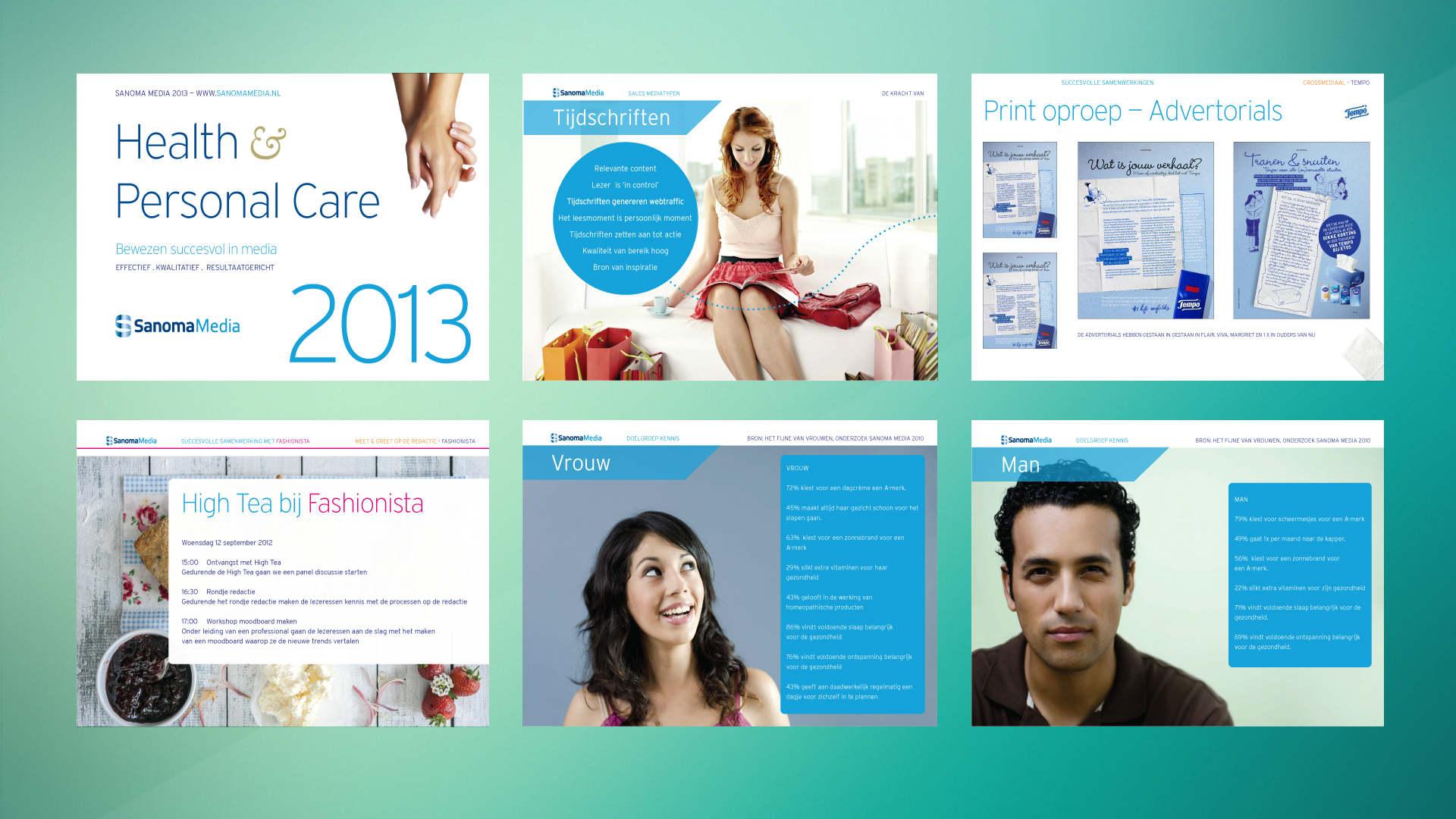 Sanoma. Case. Visuals Creatieve strategie, concept, creative- & art direction, design, saleskit. Sham Ramessar