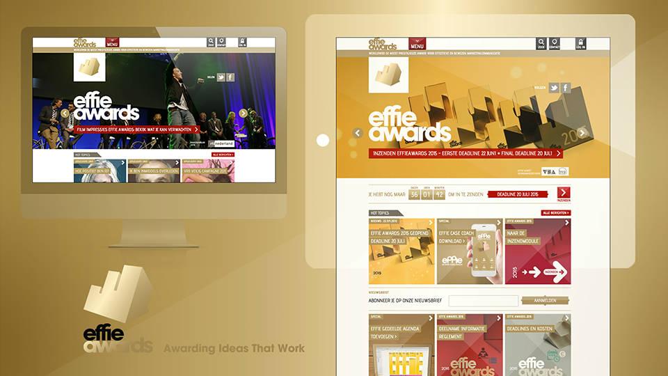 Effie Awards - Website, Social Media and Rebranding, Signage, Communication, Award Tool - Sham Ramessar